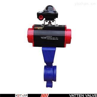 压滤机专用气动V型球阀,硬密封对夹球阀