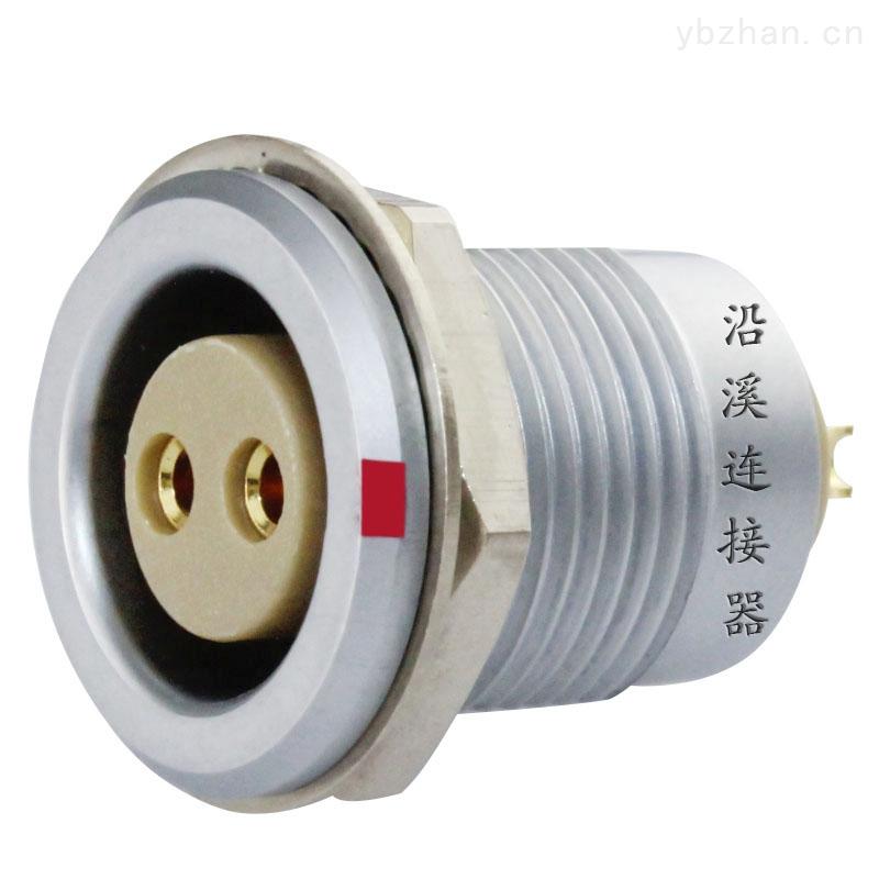 沿溪連接器 2芯母插座 推拉自鎖金屬航空件 檢測設備 電子儀器儀表 汽車電子接插件