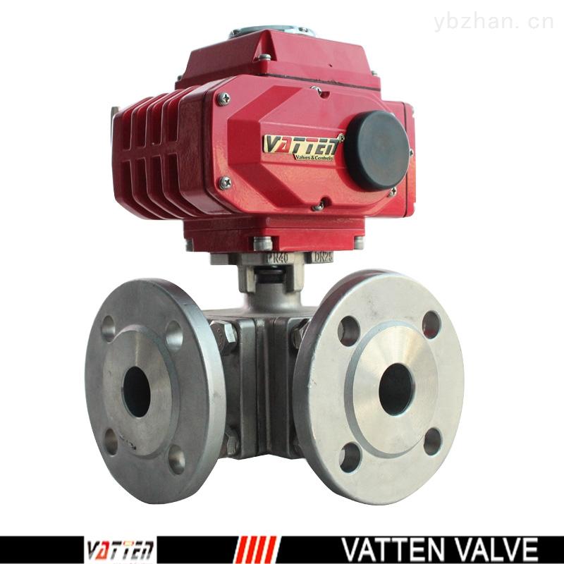VT-氣動三通法蘭球閥,介質流向切換閥