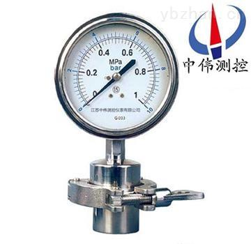 YTP-100MC-卡箍式卫生型压力表