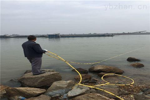水下铺钢管(黑龙江省打捞潜水员)