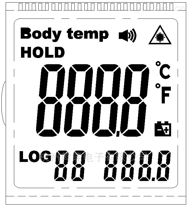 数显温度计液晶显示屏开模订做生产