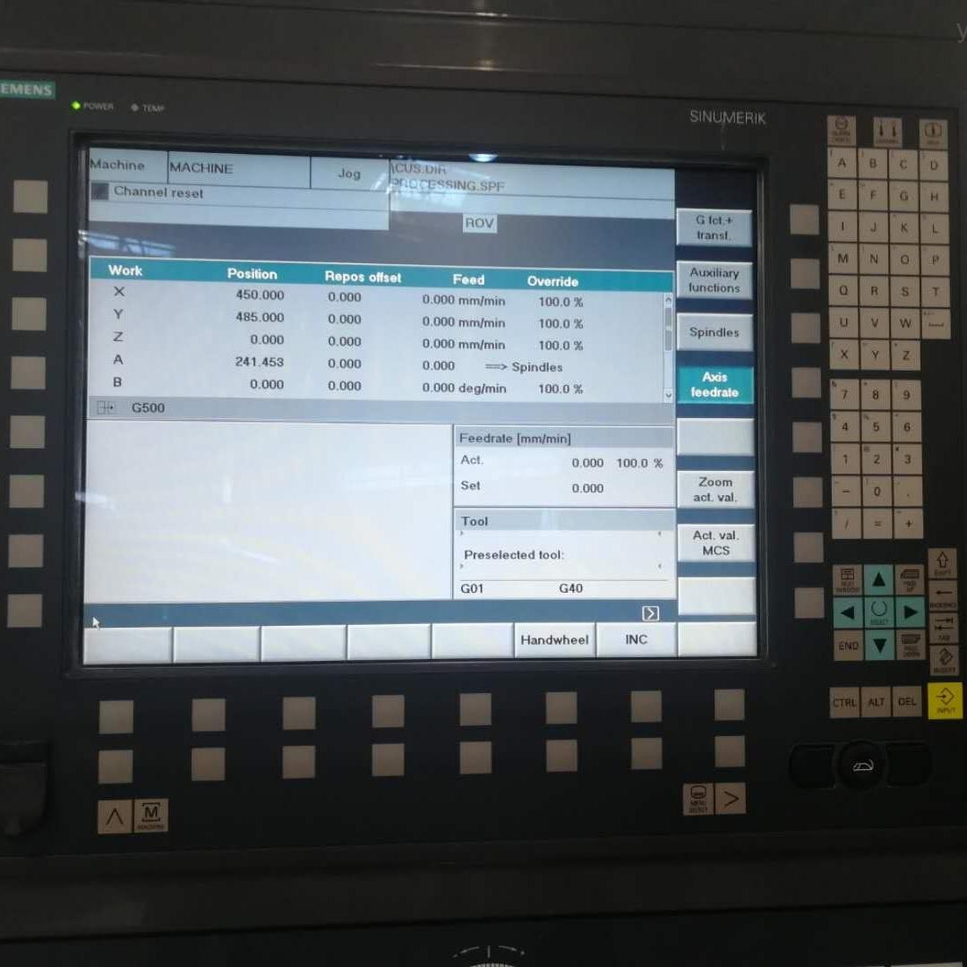 828d数控镗铣床报230021功率部件接地维修