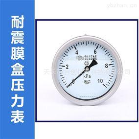 YEN-100B耐震膜盒压力表厂家价格轴向微压压力仪表