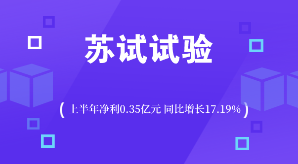 苏试试验上半年净利0.35亿元 同?#20173;?#38271;17.19%