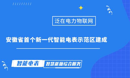 安徽省首個新一代智能電表示範區建成