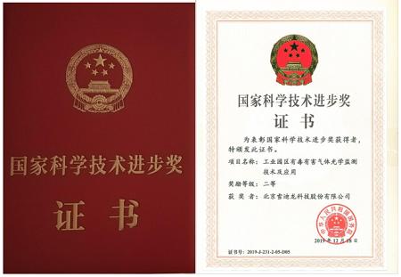 雪迪龍榮獲2019年度國家科學技術進步獎二等獎