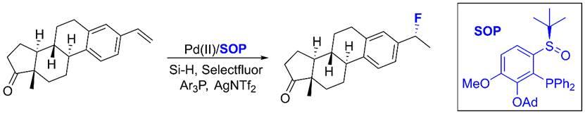 成都生物所在烯烴不對稱氫氟化研究中獲進展