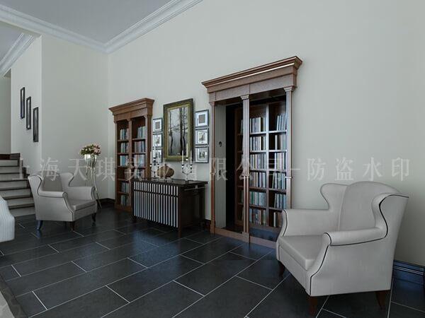 书柜旋转密室门,古代旋转机关门,别墅地下密室设计